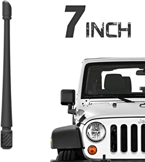 Rydonair 7 inches Antenna Compatible with Jeep Wrangler JK JKU JL JLU JT Rubicon Sahara Gladiator (2007-2020) | Designed for Optimized FM/AM Reception and Car Wash Proof