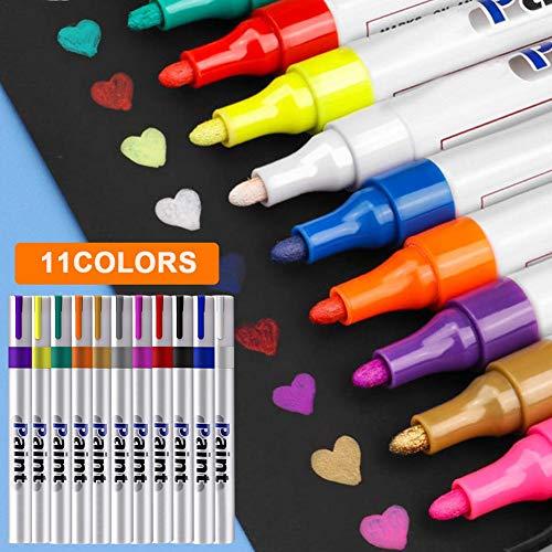 Funihut Marker acrylverf, pennen voor acrylverf, marker permanent op glas, stof, lak, keramiek, hout, canvas, papier, metaal, fotoalbum