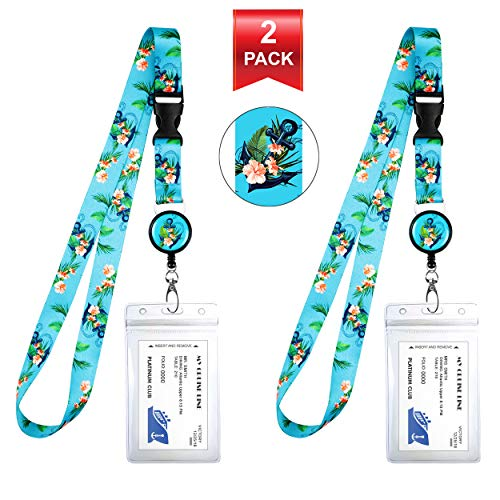 2-Pack Cruise Lanyard & Waterproof ID Key Card Holder Clip. Matching Retractable Badge Reel. Bonus Travel Organizer Bag. Essential Cruise Ship Accessories. Anchor Floral Nautical Theme