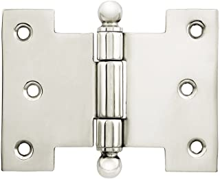 Schaub 2-5//8 in. 67mm Satin Nickel 1111B-15 Hinge