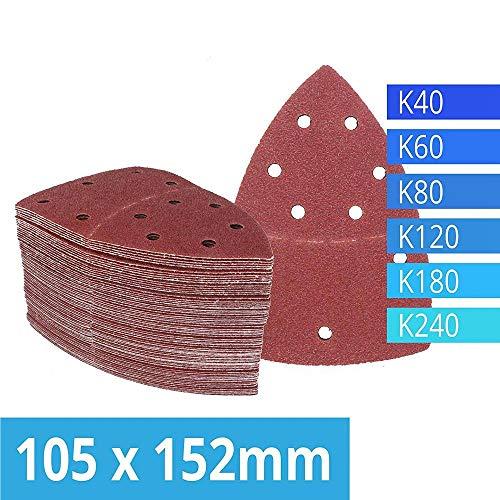 120 Schleifblätter mit Klettverschluss 105 x 152 mm Körnung 20 Jeweils 40/60/80/120/180/240 Schleifpapier für Multi Sander Bosch