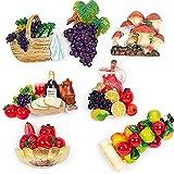 LIANYG Imán de Nevera, Verduras, Frutas, Comida, Resina, Pizarra magnética, Pegatina, imán magnético, decoración del hogar