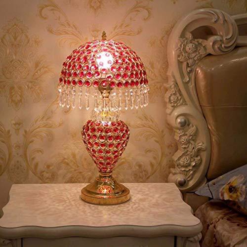 Outingstarcase Simple y elegante lámpara de tabla, las lámparas creativas, Crystal dormitorio de noche Lámparas de mesa, en la sala de lectura Los niños que trabajan luces decorativas Adecuado para es