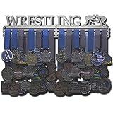Allied Medal Hangers - Wrestling (18' Wide with 3 Hang Bars) - Medal Hanger Holder Display Rack - Multiple