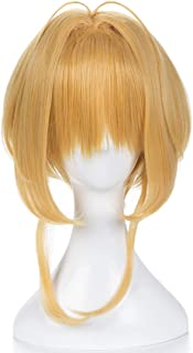 Hairpieces Hairpieces Anime Character Wig Cosplay Wig Magic Card Girl Wig for Daily Use and Party (Color : Mixed Gold)