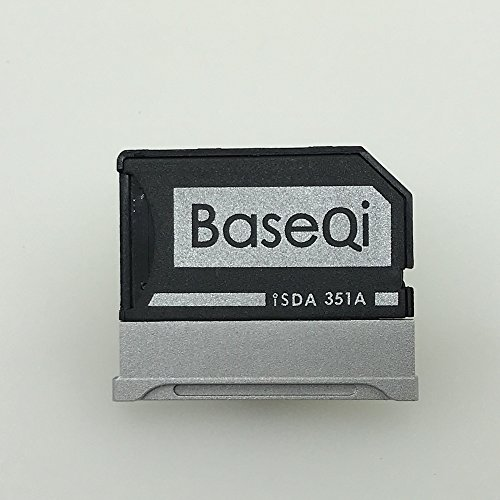 BASEQI Aluminum MicroSD Adapter for Microsoft Surface Book 2 & Surface Book 3 15