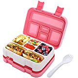 HOMETALL Lunch Box for Kids Bento Box for Toddler Girls School Insulated Plastic Lunch Containers...