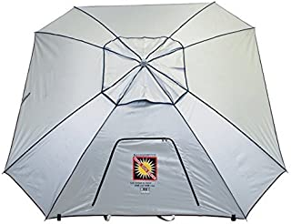 Extreme Shade Total Sun Block Beach Umbrella Shelter w/Window and Anchor