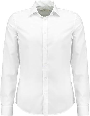 Pier One Camisa de Hombre de Manga Larga Fina en Blanco, Azul Marino o Negro - Camisa de Botones Sin Necesidad de Planchar - Camisas Elegantes con ...