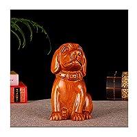 仏像 大胆な彫刻された犬の彫刻創造的な動物の彫像12ゾディアックFeng Shui Home家具は、お祝いイベントのためのラッキーギフトとして使用されています 仏像の装飾 (Color : B, Size : Large)
