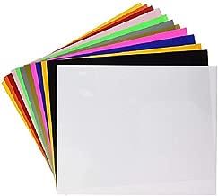 SISER 30 Sheets EasyWeed Heat Transfer Vinyl Bundle, 15