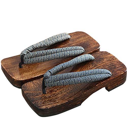 Pinji - Sandalias de Madera Zuecos Zapatillas de Japón,