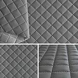 Simili cuir Piqués gris tissu ameublement vendu au mètre SAM191_09