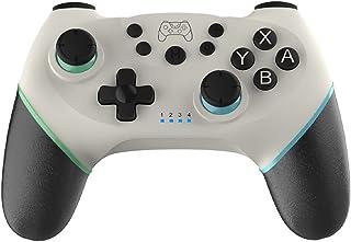 ゲームコントローラ Switch コントローラー スイッチ コントローラー ワイヤレス プロコン Bluetooth 最新バージョン対応 6軸ジャイロセンサー搭載 TURBO連射機能 HD振動 日本語取扱説明書 ホワイト