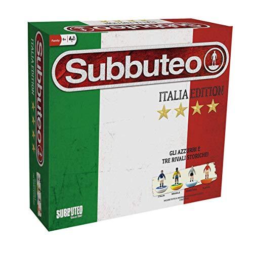 Giochi Preziosi Subbuteo Confezione Super Deluxe Italia con 4 Nazionali, 2 Porte, Campo e Pallone