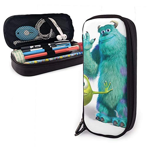 Monster University Pencil case Pencil case Stationery Bag Bag Leather Leather Small Pencil case Student Stationery Bag Zipper Bag