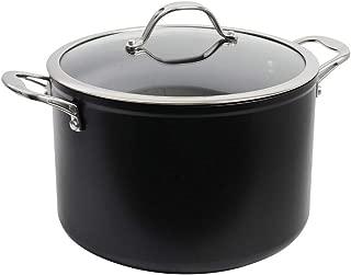Non Stick Casserole Pot de deux poignées latérales avec verre trempé Couvercle 20 cm