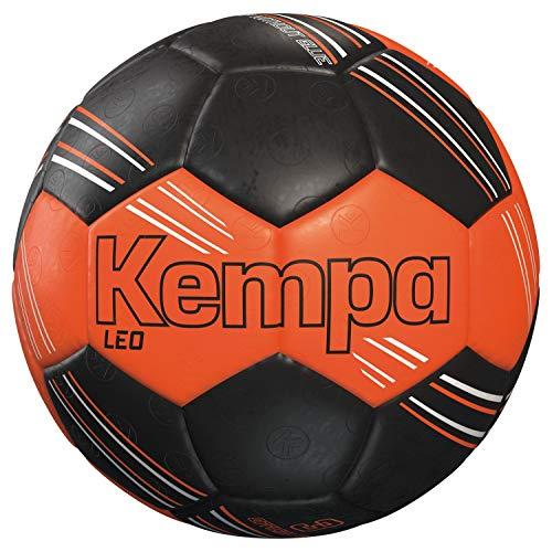 Kempa Leo 200189201 - Pallone da pallamano 2, colore: Arancione/Nero