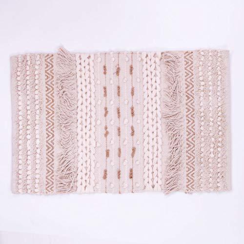 Homevibes Boho-Teppich, 100 % handgewebt, Jute-Teppich und indische Baumwolle, 50 x 80 cm, ideal...