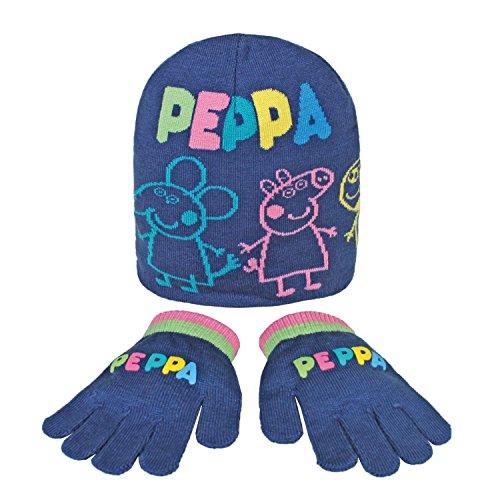 Peppa Pig 2200000357 - Set de 2 piezas con gorro y guantes para niños, color azul, talla única