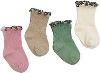 Black Temptation, 4 pares unisex del bebé Calcetines, 1-2 años de edad del bebé del algodón Calcetines #03