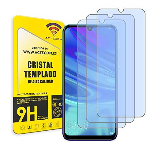 ACTECOM Pack de 3 Protector de Pantalla Compatible con Huawei P SMART 2019 / ONEPLUS 6T Cristal Templado CASE FRIENDLY 9H 2.5D (3 uds.)