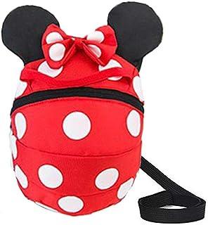 Los Niños Perdidos-Anti Arnés de Seguridad del Bebé de Los Muchachos Mochilas Chicas del Paquete Mickey Bolsas (Rojo)