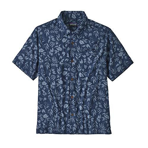 Patagonia M's LW A/C Shirt Homme, Bleu (Fiber Flora : Stone Blue), M