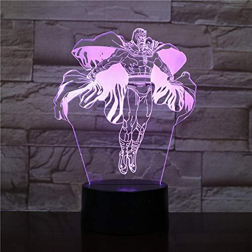 Enfants 3D LED Veilleuses Marvel Comics Avengers Super Héros Veilleuse Enfants Garçons Cadeaux D'anniversaire 3D Lampe De Table