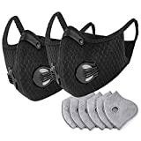 AGKupel Dust Mask, Motocycle Mesh Cover Lug-Type Dust Mask Half Face Bike Mask Washable Face Cover for Outdoor Activities (EarhookSet-Black)