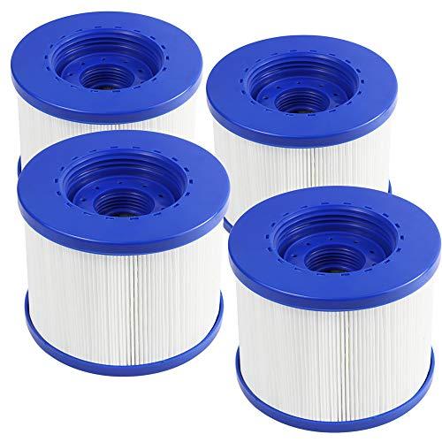 FENGCHENG Spa Filter Pool Filter Ersatz-Kartusche passend für Aquaparx, Ospazia, G Spa, Bcool, Nordic Spa, viele Massagepool Modelle (4 Stück)