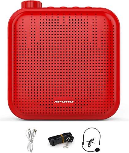 Yong Jia Mini Amplificador de Voz Ultraligero Recargable con micrófono Auricular Amplificador de Voz portátil Amplificador de Voz Megáfono