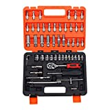 Kit de herramientas de reparación de automóviles sistema de herramienta del sistema de herramienta General mano del hogar de la caja de herramientas de plástico de almacenamiento de caja de 53 piezas