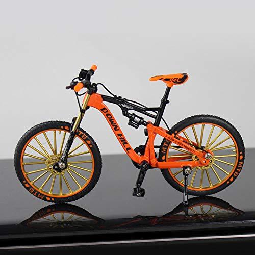 Maifa 1:10 Modello Bici, Bicicletta Mountain Bike Modello Mini Bicicletta Mini Curva Modello Bicicletta Cool Boy Toy Decorazione Artigianato per la casa, 5 Colori