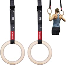 FDYD LANGSHI Houten Gymnastiek Ringen 680,4 kg met verstelbare Cam gesp 14.8Ft Lange bandjes Oefening Ringen Anti-lip Trai...