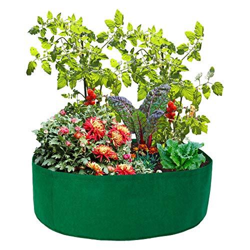VKTY 2 Pack Raised Vegetable Beds Felt Fabric Seedling Grow Bags 15 gallon...