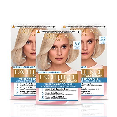 L'Oréal Paris Excellence Crème Permanent Hair Dye, Radiant At-Home Hair Colour with up to 100%...