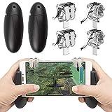 EAONE 2 Pares de mandos de Juegos para Dispositivos móviles con Botones de Disparo sensibles con 1 gampada para PUBG/Reglas de Supervivencia/Cuchillos de Juego para iOS y Android 4.5 – 6.5 Pulgadas