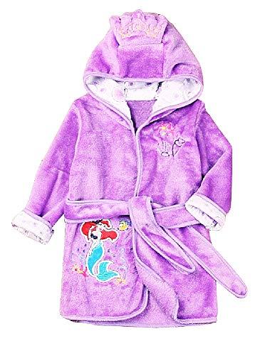 Kleine zeemeermin - paars - zeemeermin - badjas - ariel - slaapkamer badjas - pyjama - nacht - zachte fleece - meisjes - personages - met kap - origineel cadeau idee