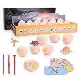 Colmanda Dinosaur Eggs, Huevos de Dinosaurio Minijuegos de Dinosaurios Dinosaurio Realista Juguetes para Arqueología y Niños