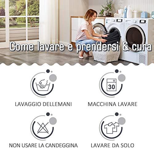 TAOCOCO Copridivano con Penisola Elasticizzato Chaise Longue Sofa Cover Componibile in Poliestere a Forma di L (Grigio, 3 Posti+3 Posti)
