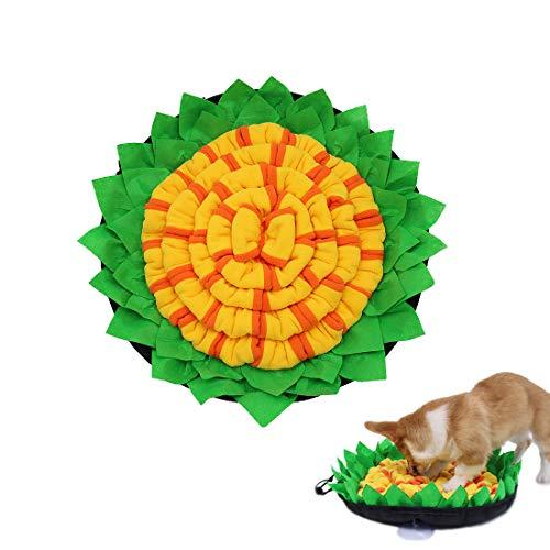 Bikirin Snuffle Mat para Perros, Lavables a Máquina Plegable Aviliable Alfombrillas de Entrenamiento para Perros, Fomenta Las Habilidades Naturales de Forrajeo Alfombra Olfato Perro