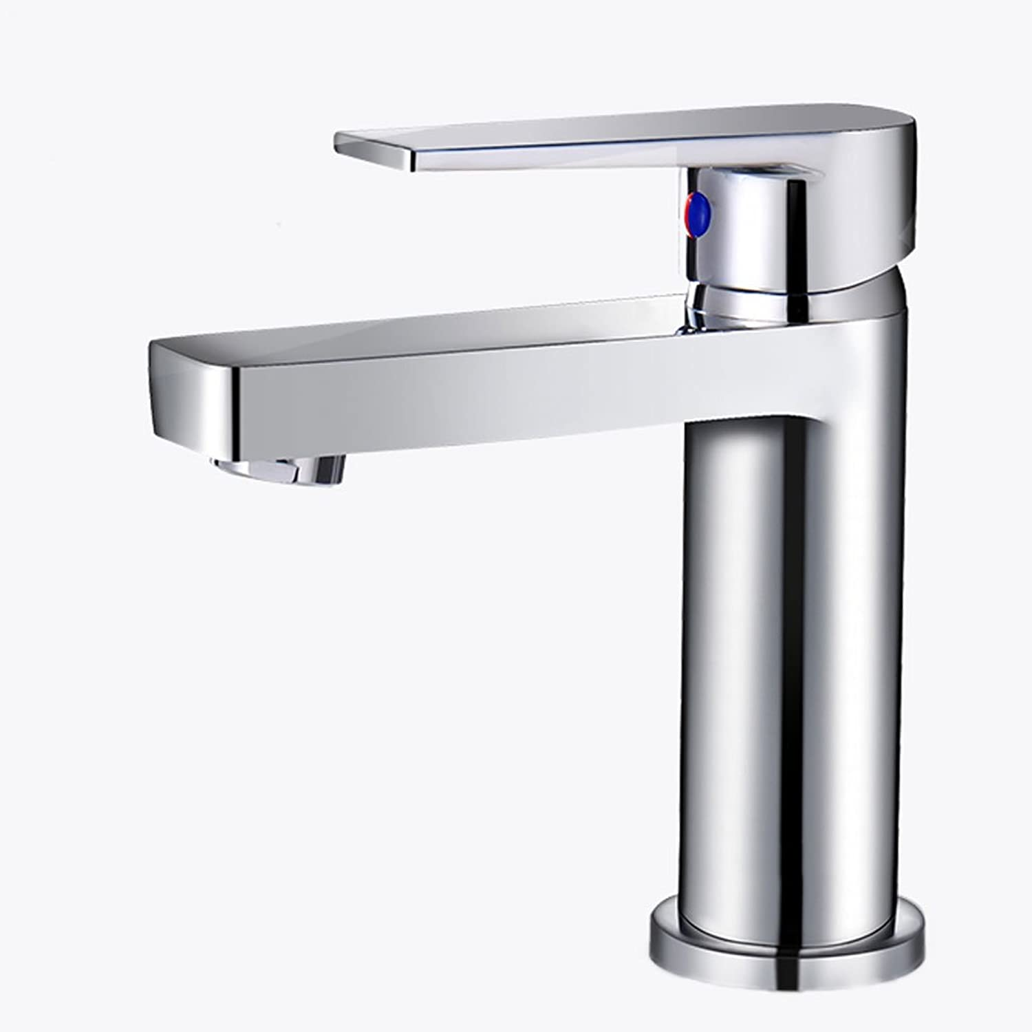 Full Copper Basin Faucet, Electroplated Hot and Cold Bathroom Water Tap