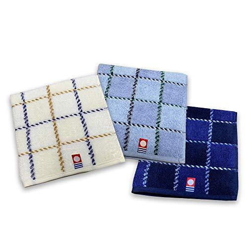 国産 今治タオル タオルハンカチ 3枚セット 綿100% 日本製 25×25 高級 吸水速乾 やわらか ふわふわ (タイプA)