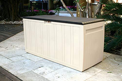 XXL Kissenbox/Auflagenbox Leonardo in Creme-Weiß mit 270 Liter Nutzvolumen- robust, abwaschbar und einfach im Aufbau
