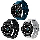 Aimtel Cinturino Compatibile con Samsung Galaxy Watch 4 40mm/44mm&Galaxy Watch 4 Classic 42mm/46mm,Cinturino di Ricambio in Silicone Morbido Regolabile da 20 mm per Galaxy Watch4/Galaxy Watch3 41mm