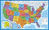 Laminated USA Map - 18' x 29' - Wall Chart Map of The United States of America - Made in The USA - Updated for 2020 (Laminated, 18' x 29')