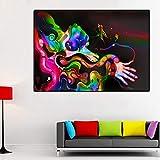 DIY Pintar por números Peinture moderne abstraite main artistique colorée pintar por numeros principiante Adecuado para la decoración de la sala de estar para niños, estudiant50x60cm(Sin marco)