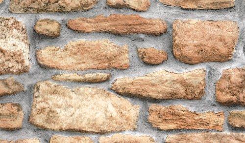 Fablon FAB10226 - Rotolo di pellicola adesiva per rivestimenti, effetto muro di pietra, 45 cm x 2 m
