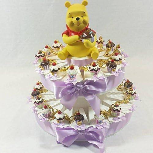 Kuchen Sü keiten Cupcake Schlüsselanh er Winnie the Pooh Geburt Taufe Kindergeburtstag Mitgebsel Torta da 90 fette + centrale
